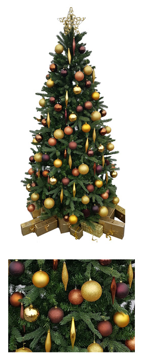 Valley Provincial, London Christmas Tree hire, Christmas tree hire, office Christmas tree, corporate Christmas tree, corporate planting, interior office plants