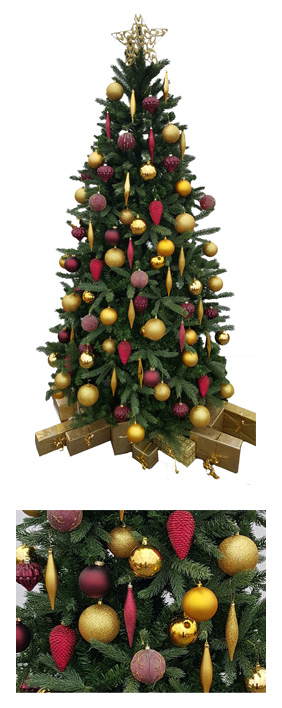 Valley Provincial, hotel landscaping, London Christmas Tree hire, Christmas tree hire, office Christmas tree, corporate Christmas tree, corporate planting, office landscaping
