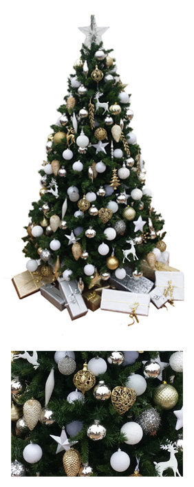 Valley Provincial, London Christmas Tree hire, Christmas tree hire, office Christmas tree, corporate Christmas tree, corporate planting, office flower service